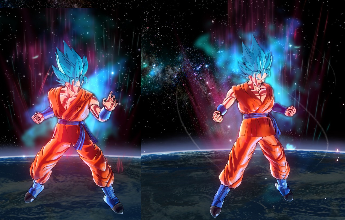 Xenoverse 2: SSGSS Kaioken by Nassif9000