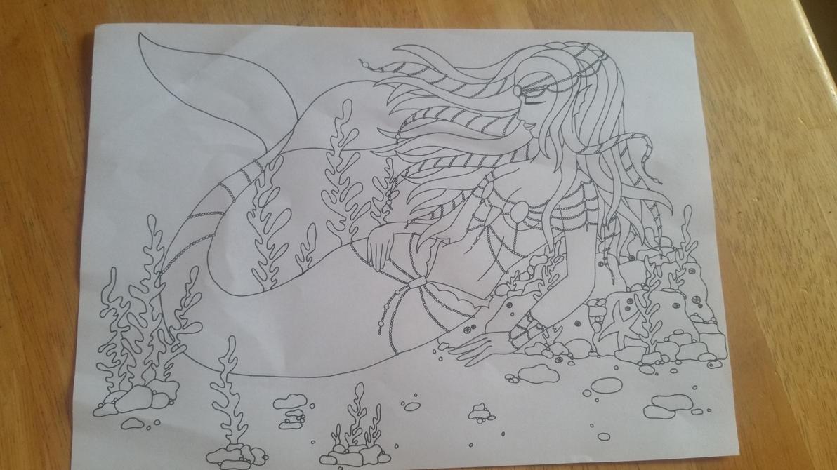 Mermaid WIP by BlackheartedPhoenix