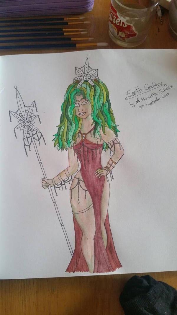 Earth Goddess WIP by BlackheartedPhoenix