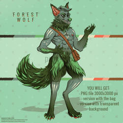 Adoptable auction - Forest Wolf (OPEN) by furry-eyes