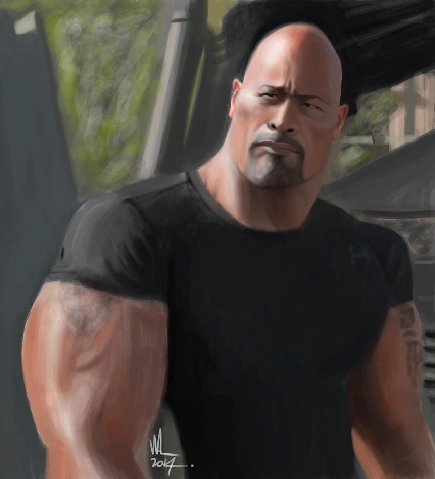 Dwayne The Rock Johnson, by WALHH