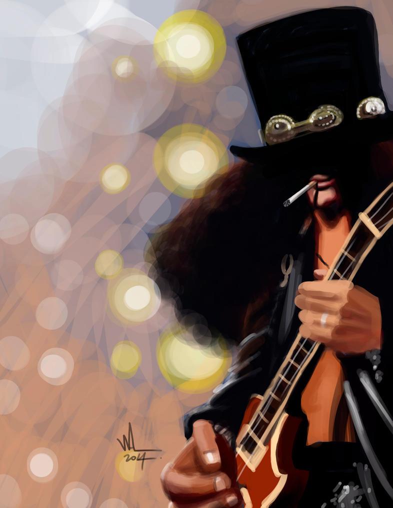Slash. Digital caricature. by WALHH