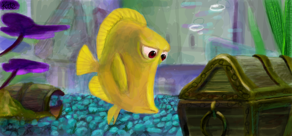 Bubbles from finding nemo by celebi yoshi on deviantart for Bubbles fish finding nemo