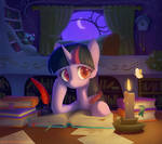 Twilight in her library