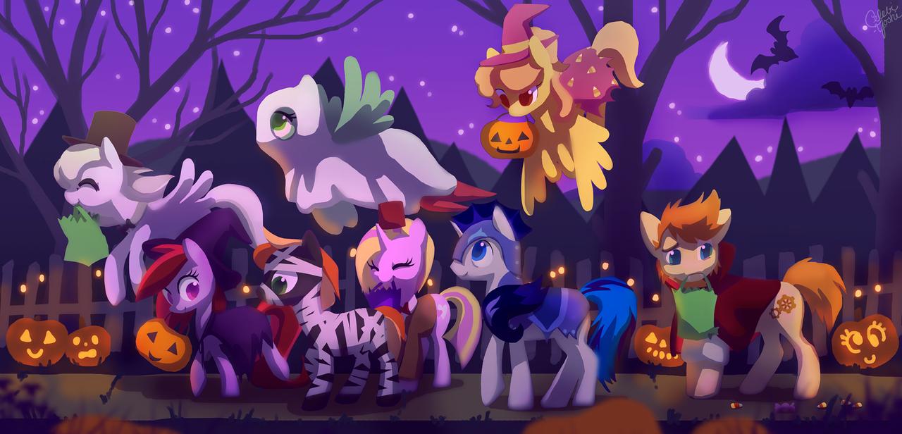 Happy (pony) Halloween! by Celebi-Yoshi