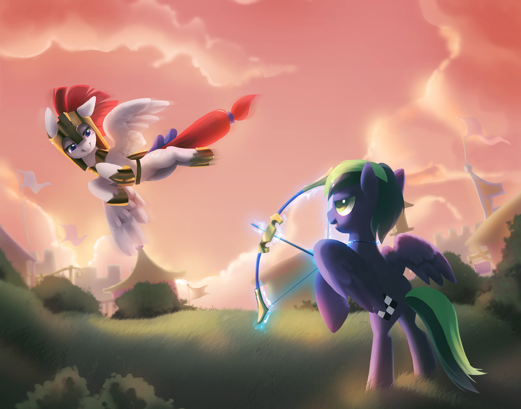 Commish: Checkmate and Cherry Blossom by Celebi-Yoshi