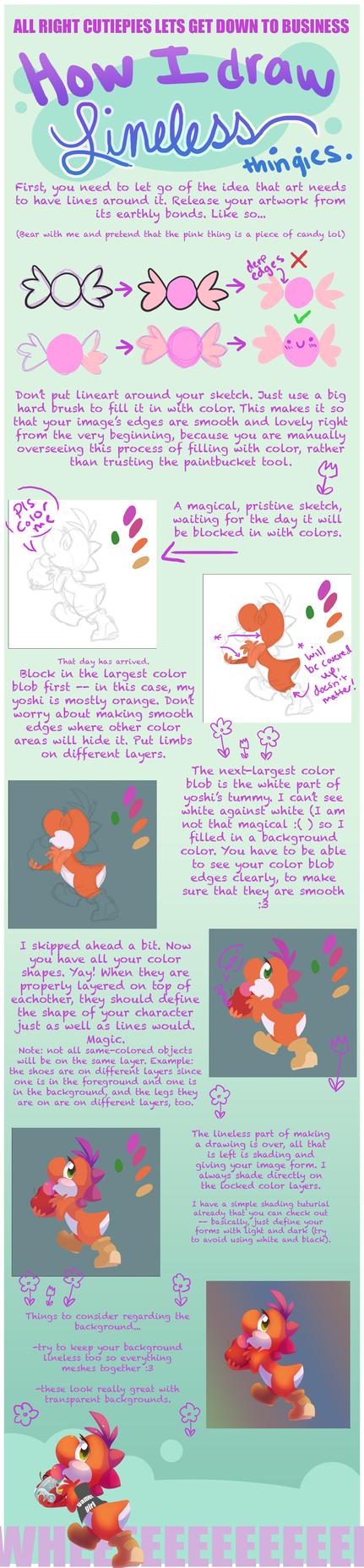 Tutorial: how I draw lineless by Celebi-Yoshi