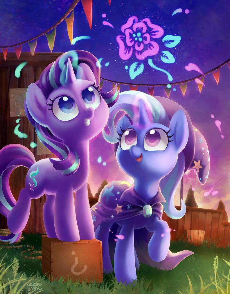 Magic pals by Celebi-Yoshi