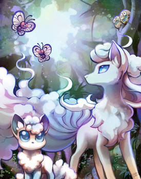 Alolan Ninetails and friends
