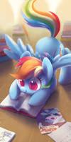 Horse book pounce by Celebi-Yoshi