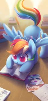 Horse book pounce