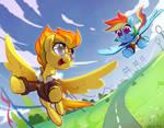 Commission: Spitfire + Rainbow Dash