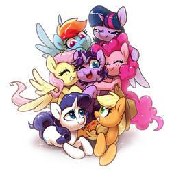 pony group hug by Dawnf1re