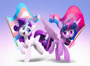 Rarity and Twi Pride