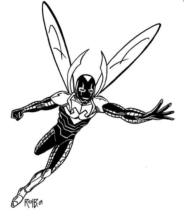 Blue beetle by richbernatovech on deviantart for Blue beetle coloring pages