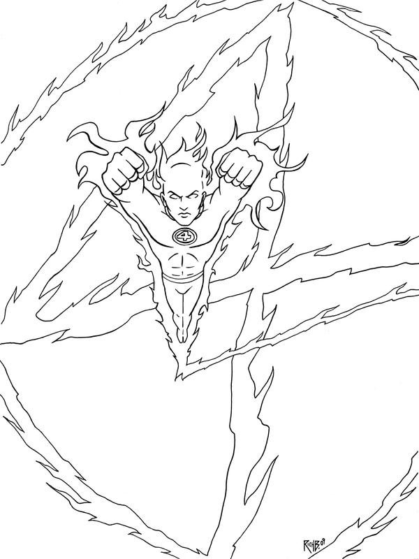 the human torch coloring pages - photo#36