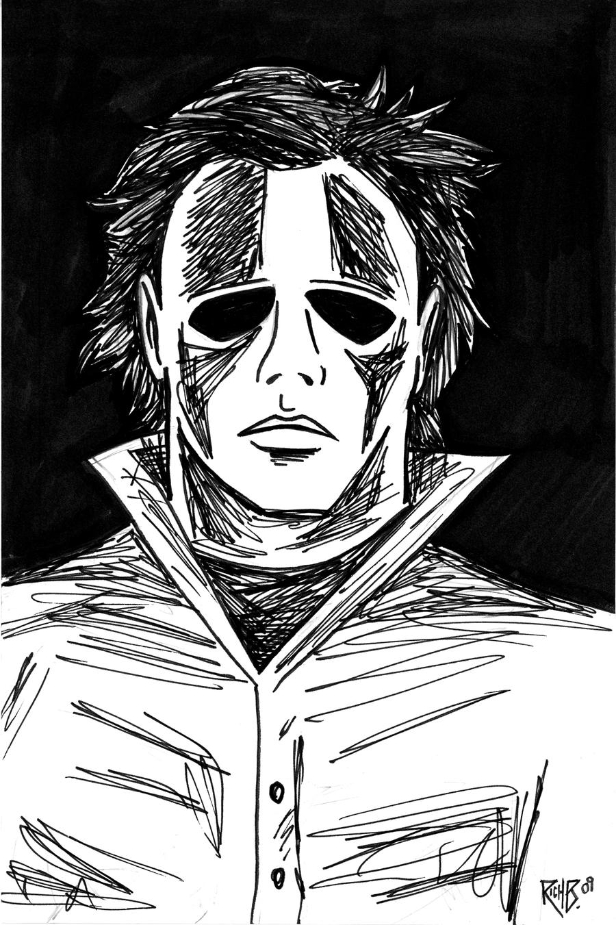 michael myers coloring pages - photo#25