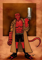 Hellboy Colored Version by RichBernatovech