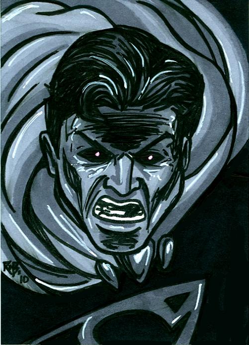 Superman Black Lantern Card by RichBernatovech on DeviantArt  Black Lantern Superman Symbol