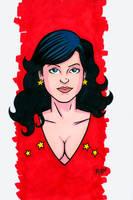 Wondergirl Headshot Colored by RichBernatovech
