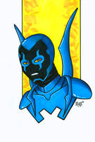 Blue Beetle Headshot Colored by RichBernatovech