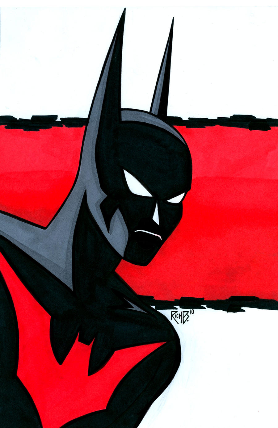 Batman Beyond Headshot by RichBernatovech on DeviantArt