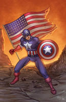 Captain America Colored by RichBernatovech