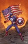 Captain America Colored
