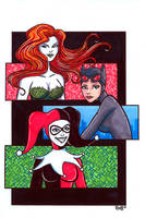 Illustrious Bits Week 7: Gotham Sirens by RichBernatovech