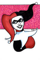 Harley Quinn Headshot5 by RichBernatovech