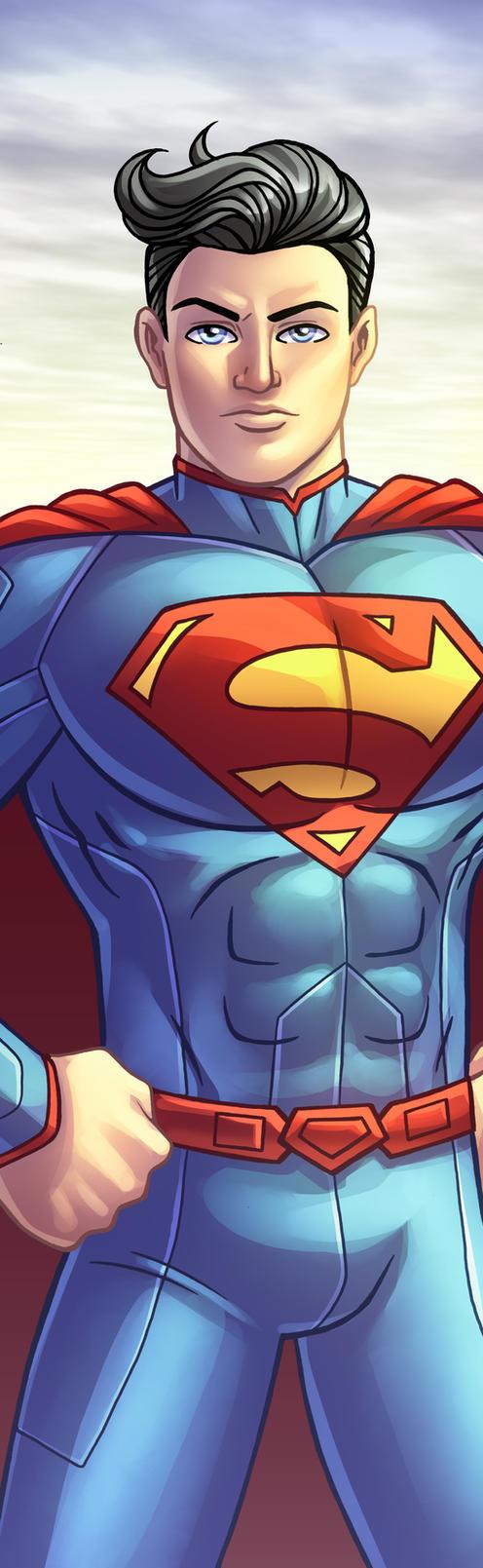 Superman Panel Art by RichBernatovech