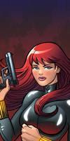 Black Widow Panel Art