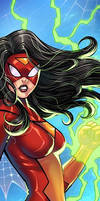 Spider Woman Panel Art