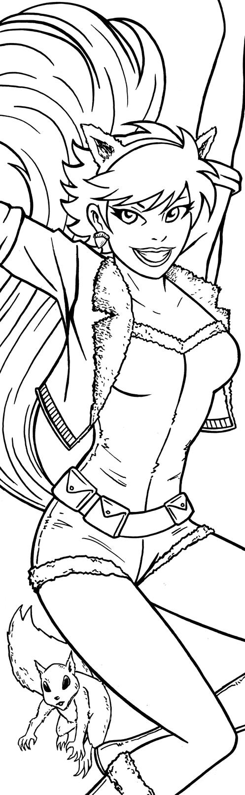 Squirrel Girl Art Inks by RichBernatovech