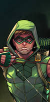 Green Arrow Panel Art