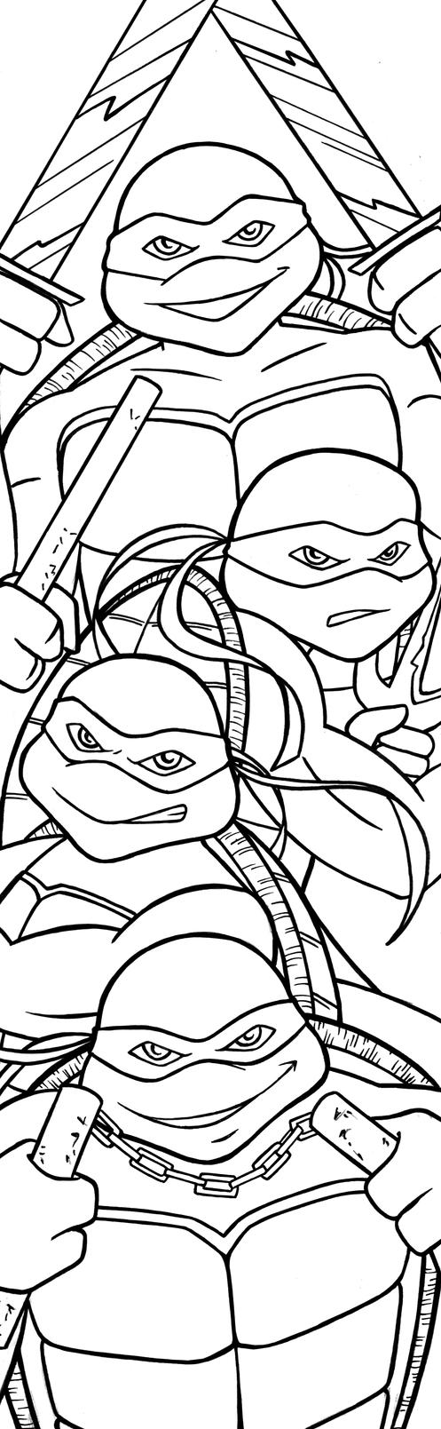 TMNT Art Inks by RichBernatovech