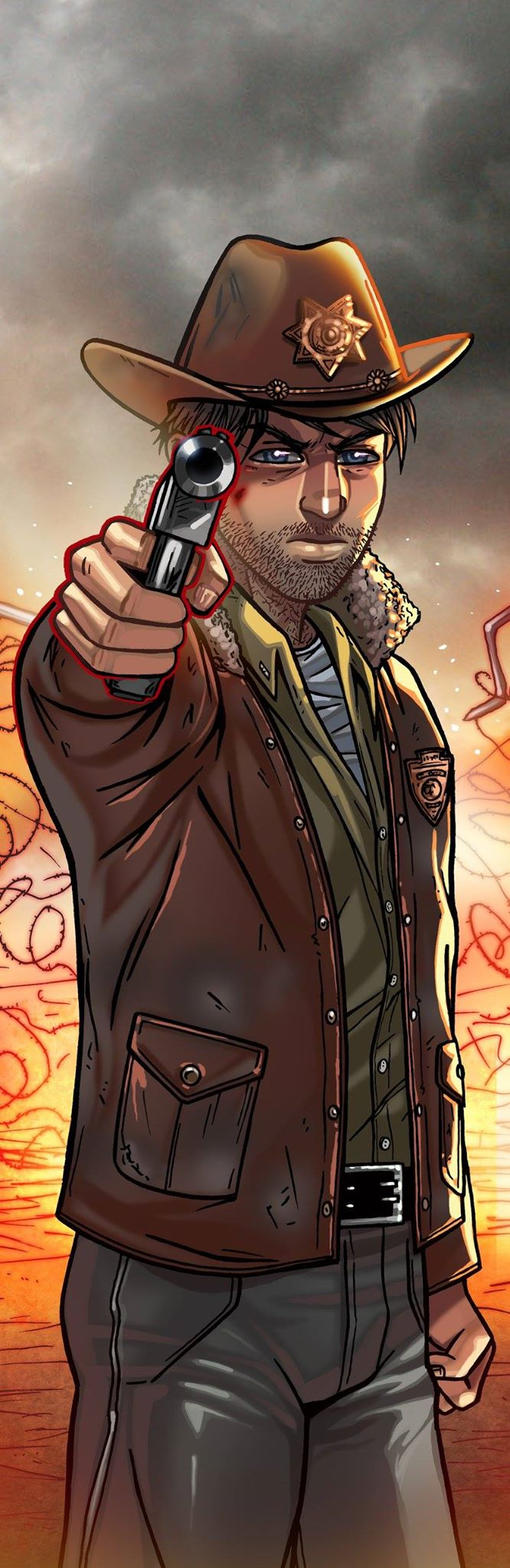 Rick Grimes Panel Art by RichBernatovech