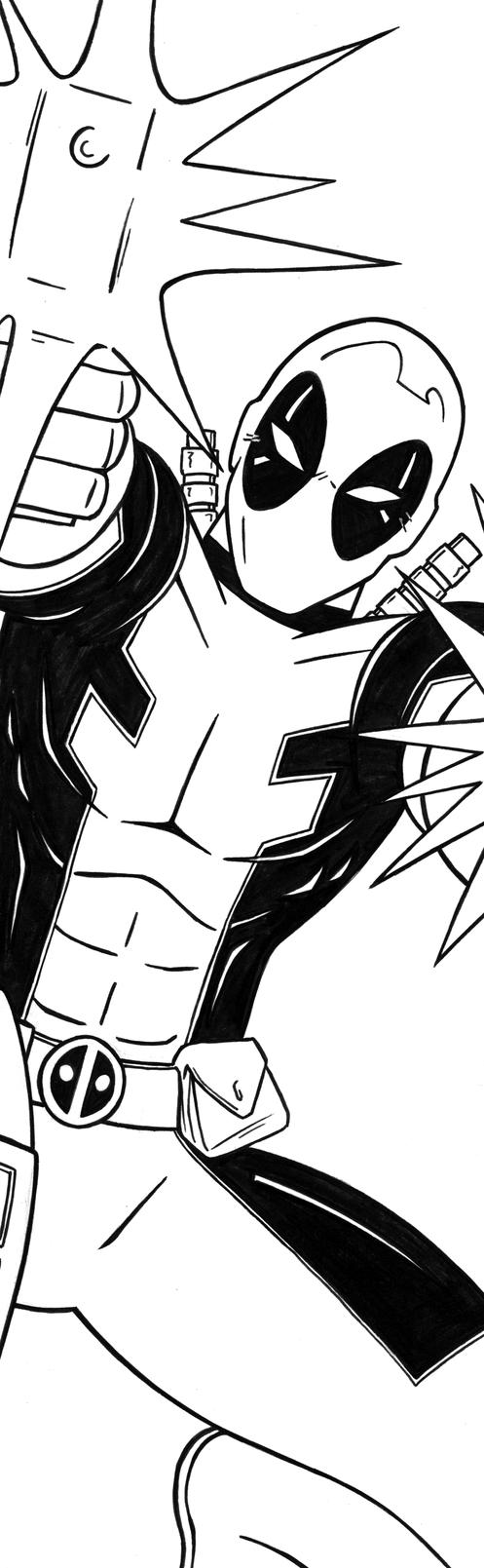 Deadpool Art inks by RichBernatovech