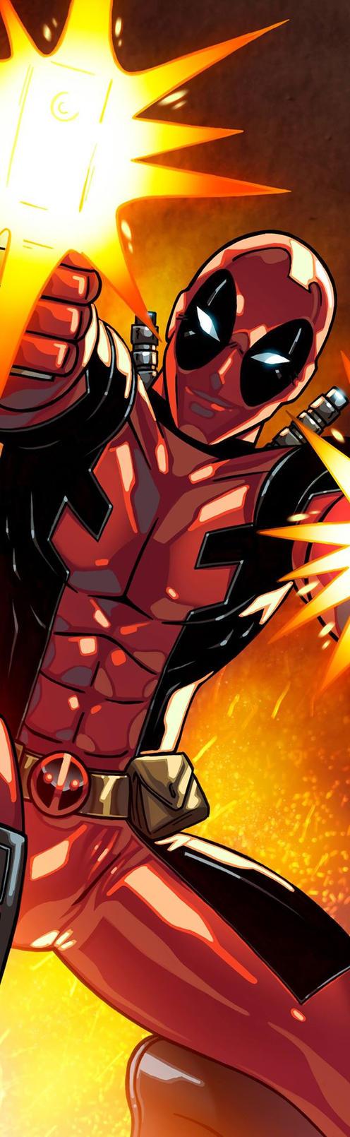 Deadpool Panel Art by RichBernatovech