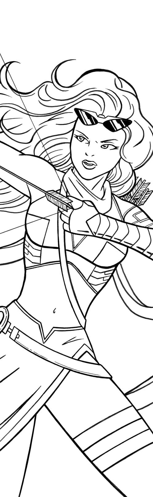 Kate Bishop Hawkeye Art Inks by RichBernatovech