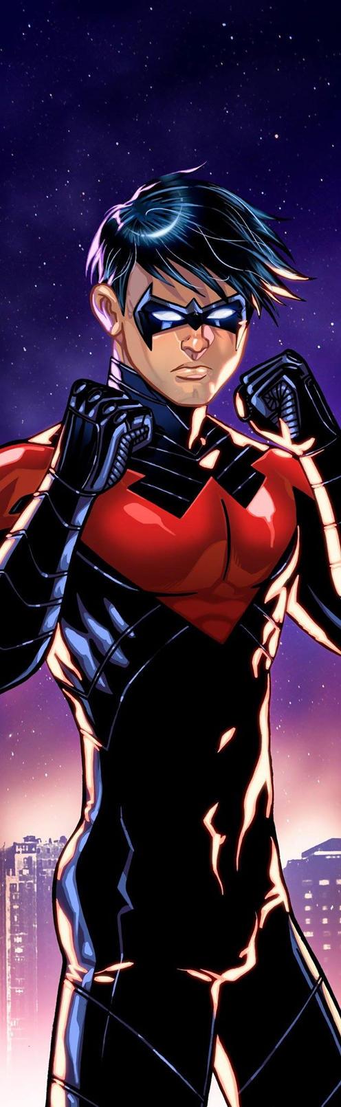 Nightwing Panel Art 2 by RichBernatovech
