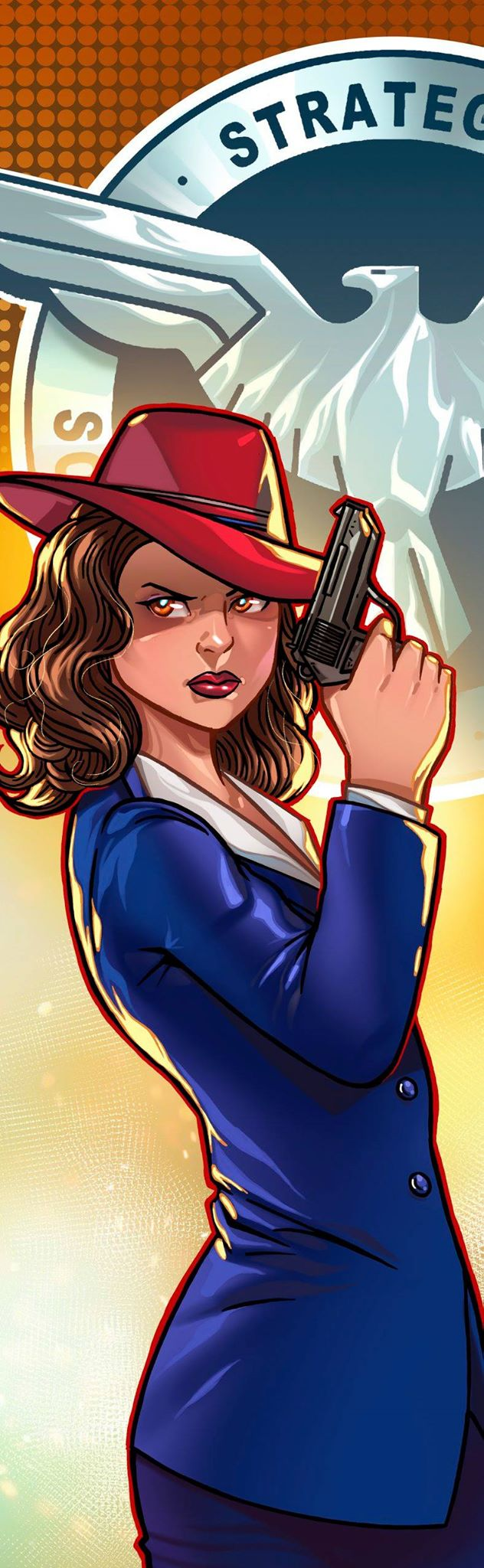 Agent Carter Panel Art by RichBernatovech
