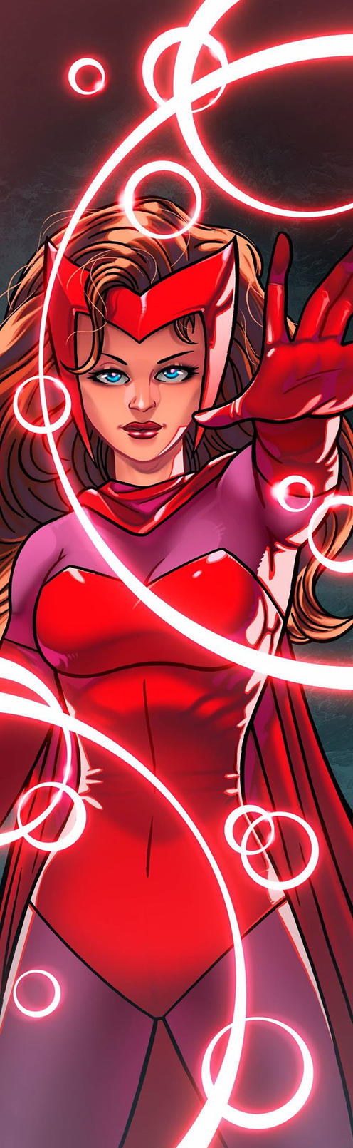 Scarlet Witch Panel Art by RichBernatovech
