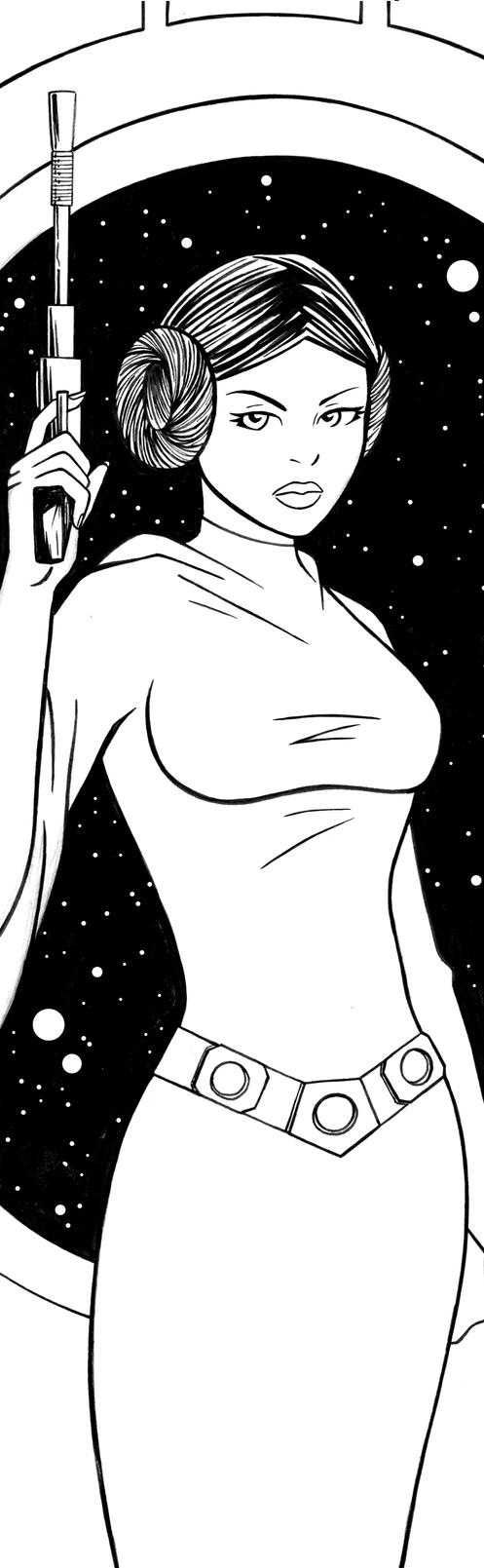 Princess Leia Art Inks by RichBernatovech