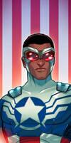 Captain America Sam Wilson Panel Art