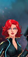 Black Widow Panel Art 2