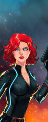 Black Widow Panel Art 2 by RichBernatovech