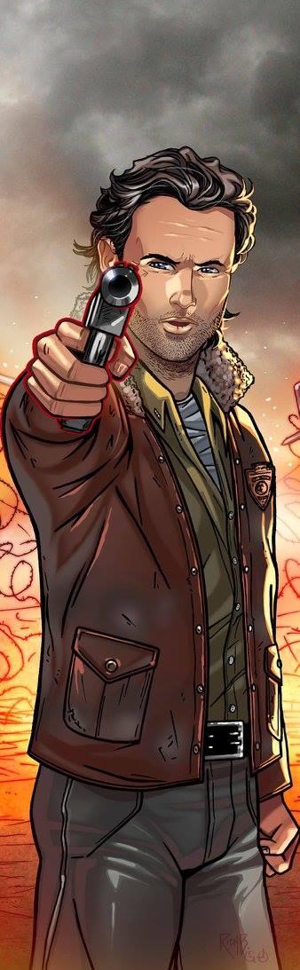 Rick Grimes Panel Art 2 by RichBernatovech