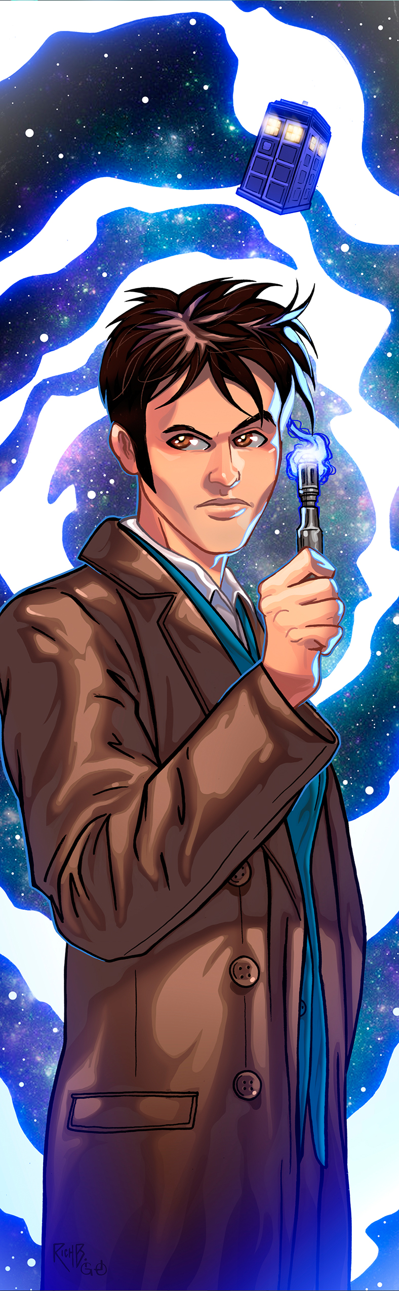 Doctor Who David Tennant Panel Art by RichBernatovech