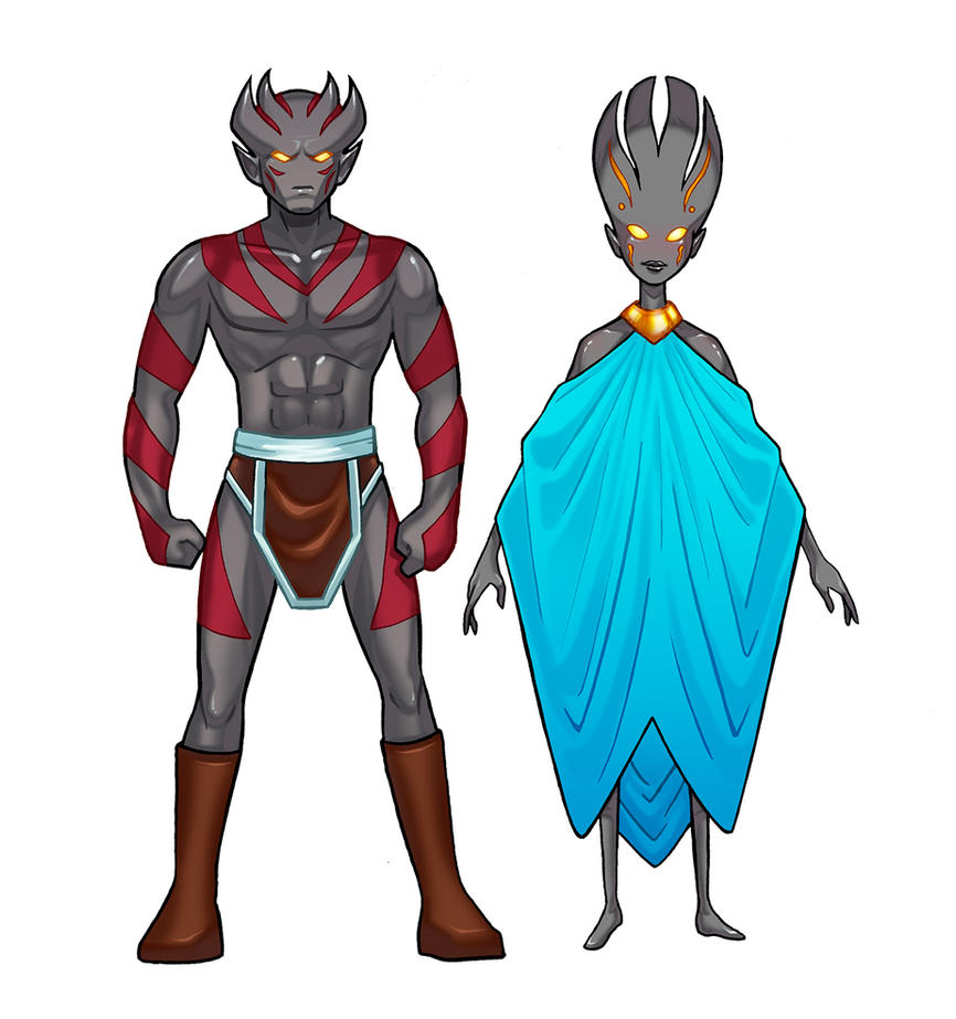 Ahtan and Naira Character Designs by RichBernatovech